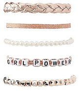 Charlotte Russe Girl Power Layering Bracelets - 5 Pack