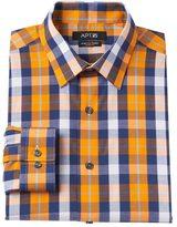 Apt. 9 Men's Extra-Slim Fit Gingham-Checked Stretch Dress Shirt