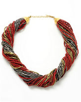 Kenneth Cole New York Necklace, Red Seed Bead Torsade Necklace