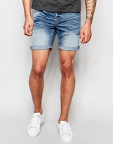 ONLY & SONS Mid Wash Denim Shorts