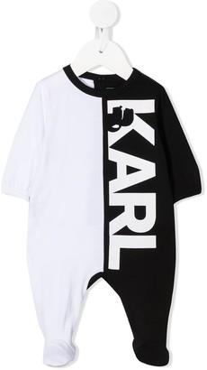 Karl Lagerfeld Paris Colour Block Logo Romper