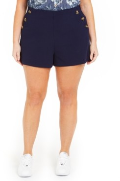 Planet Gold Trendy Plus Size Sailor Shorts