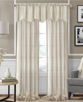 "Elrene Enza Semi-Sheer Jacquard Stripe Pair of 52"" x 84"" Panels"