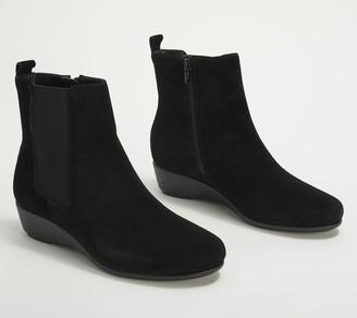 Aerosoles Suede Pull-On Wedge Boots - Alisa