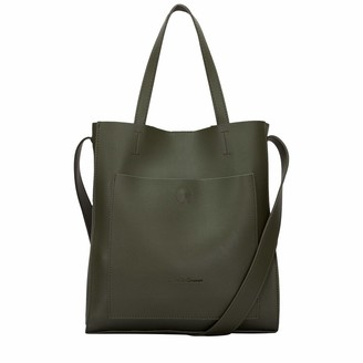 Claudia Canova Womens Twin Strap Tote Style Shoulder Bag Green (Green)