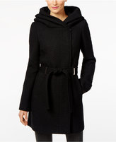 Calvin Klein Belted Wool-Blend Walker Coat