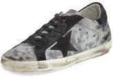 Golden Goose Deluxe Brand Star Distressed Low-Top Sneaker, Silver