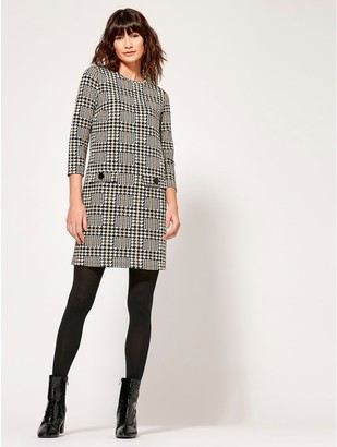 M&Co Houndstooth shift dress