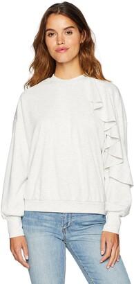 The Fifth Label Women's Ultraviolet Asymmetric Ruffle Detail Sweater