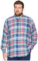 Polo Ralph Lauren Big Tall Linen Long Sleeve Sport Shirt Men's Clothing