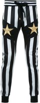 Dresscamp embroidered star striped track pants
