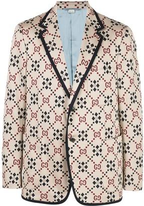 Gucci GG pattern blazer