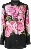 Dolce & Gabbana rose print blouse - women - Silk/Cotton - 40