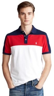 Polo Ralph Lauren Men's Custom Slim-Fit Color-Blocked Polo Shirt