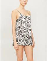 Les Girls Les Boys Leopard-print cotton-poplin pyjama top
