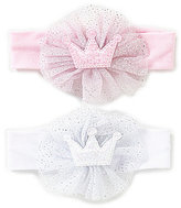 Starting Out Baby Girls 2-Pack Glitter Puff Crown Headband