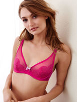 Victoria's Secret Lace Plunge Unlined Demi Bra