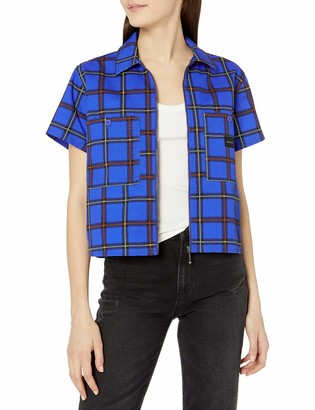 Obey Women's Short Sleeve Cropped Work Shit