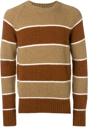 Ami Paris crew neck Raglan Sleeves Striped Sweater