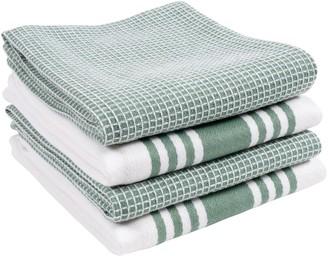 KAF Home Set of 4 Madison Waffle Kitchen Towels