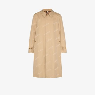 Burberry Jacquard Logo Trench Coat