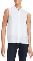 Ellen Tracy Layered Button-Front Shirt