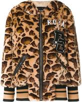Dolce & Gabbana leopard print jacket - women - Cotton/Sheep Skin/Shearling/Modacrylic/Polyester - 38