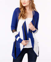 INC International Concepts I.n.c. Petite Colorblocked Open-Front Cardigan, Created for Macy's