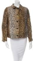 Dolce & Gabbana Silk Cheetah Print Jacket
