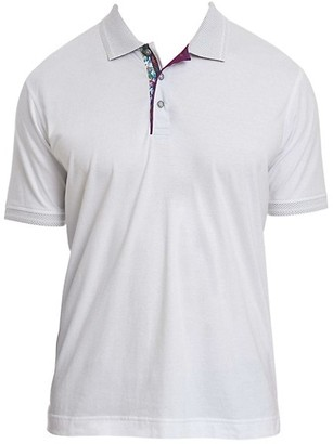 Robert Graham Printed Placket Polo Shirt