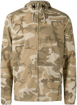 Patagonia camouflage print hooded jacket
