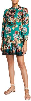 Alice + Olivia Merrilee Tiered Ruffle Tunic Dress