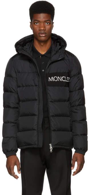 Moncler Black Down Aiton Jacket