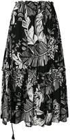 See by Chloe foliage print maxi skirt