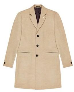 Dorothy Perkins Womens **Burton Oatmeal Marl Faux Wool Overcoat