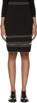 Alexander McQueen Black Scalloped Trim Skirt