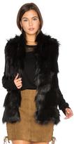 BCBGeneration Faux Fur Shell Vest