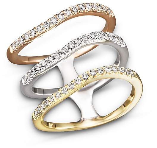 Bloomingdale's Diamond Triple Row Ring in 14K Yellow, White and Rose Gold, .50 ct. t.w.