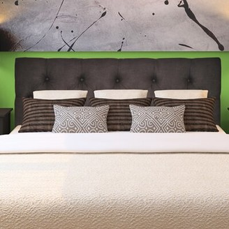 Winston Porter Huynh Queen Upholstered Panel Headboard Upholstery: Klein Chocolate