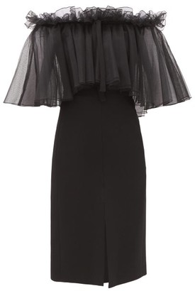 Giambattista Valli Off-the-shoulder Ruffled Cady Dress - Black