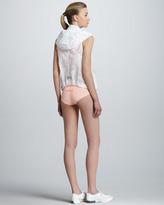 adidas by Stella McCartney Leopard-Burnout Zip Vest