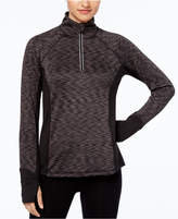 Ideology Brushed Space-Dyed Half-Zip Top, Created for Macy's