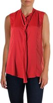 Anne Klein Women's Sleeveless Bow Blouse