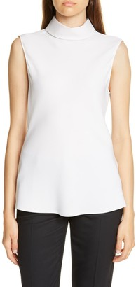 Judith And Charles Tropea Sleeveless Stretch Silk Top