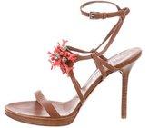 Valentino Embellished Ankle Strap Sandals
