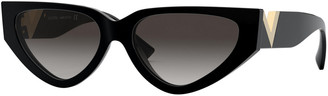 Valentino Cat-Eye Acetate Sunglasses w/ V Temples