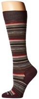 Smartwool Margarita Knee Highs (Bordeaux Heather) Women's Knee High Socks Shoes