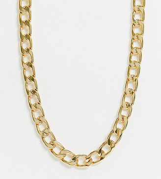 Orelia chunky chain gold necklace in gold plate