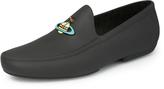 Enamelled Orb Mocassin Black Size UK 9