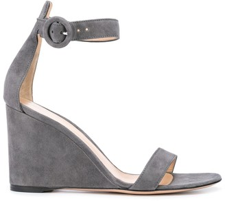 Gianvito Rossi Buckle Wedge Sandals